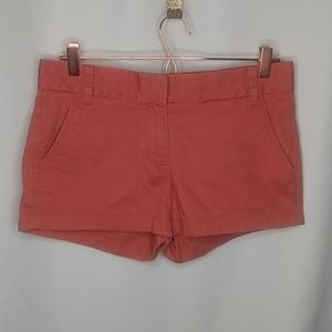 J.Crew Size 4 Chino Shorts Dusty Red
